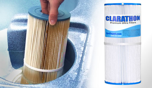 how to clean spa filters